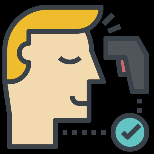 temperature check flu scan thermometer heat icon 145593